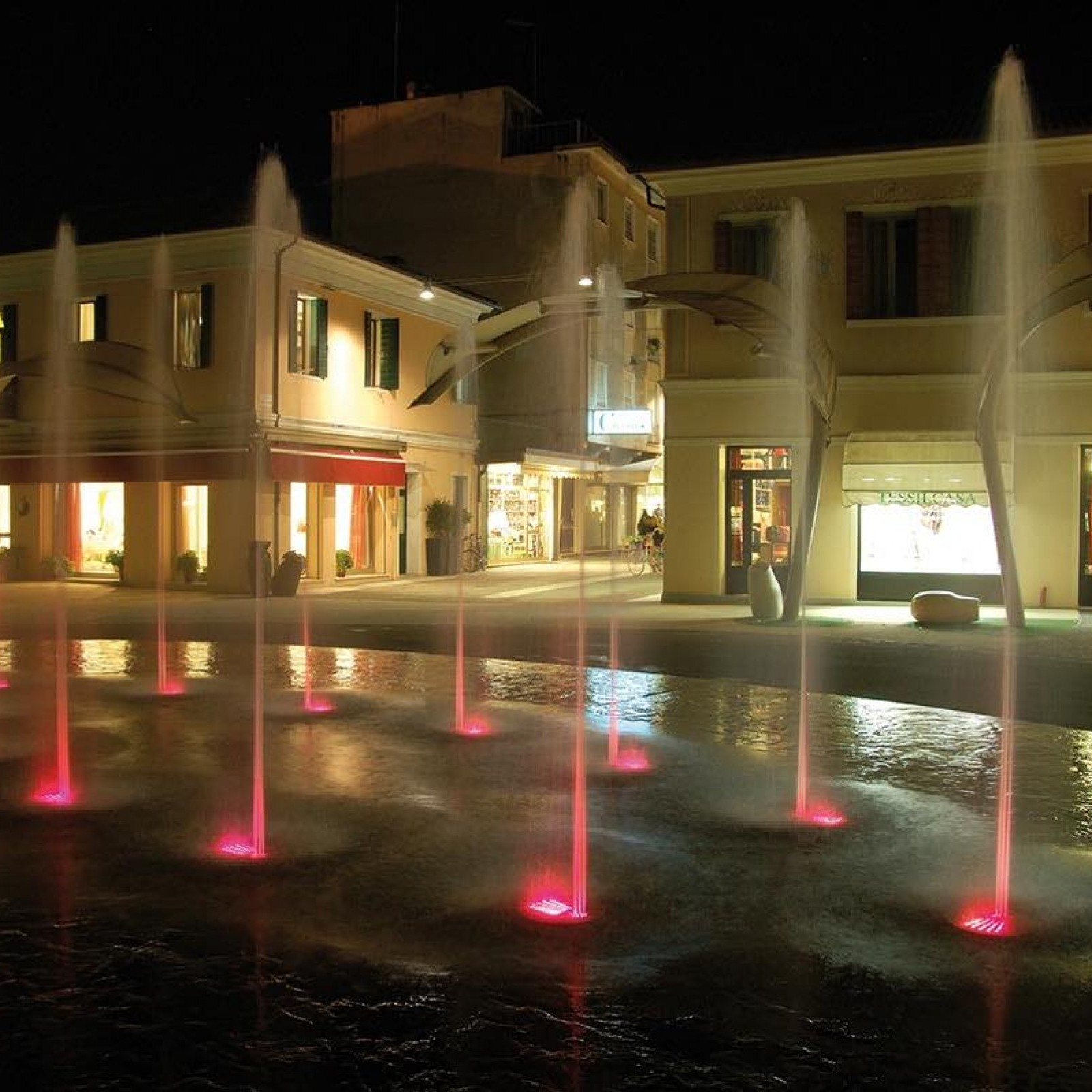 Fountain With Lights